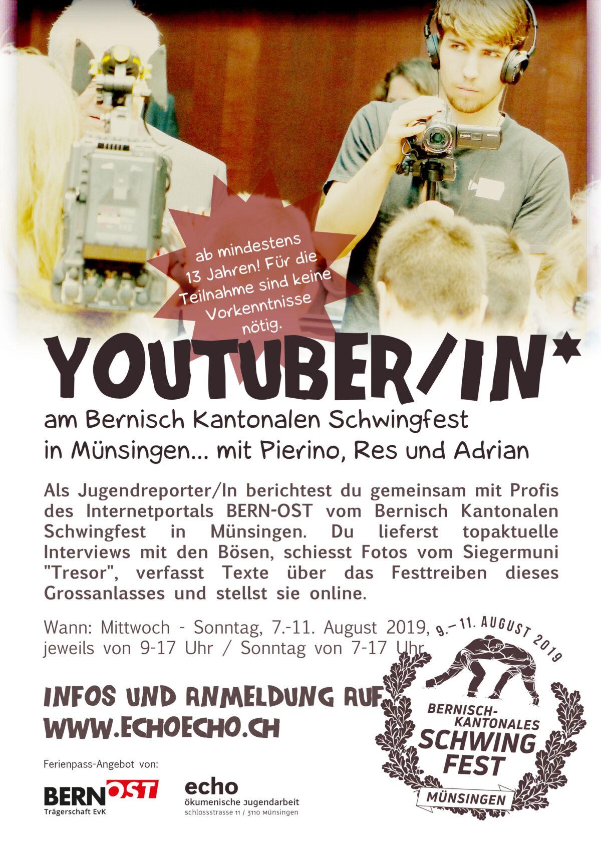 Jugendreporter am Bernisch Kantonalen Schwingfest in Münsingen